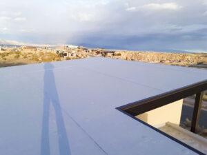 Light Grey 60 MIL TPO Membrane Flat Roof Redlands Colorado